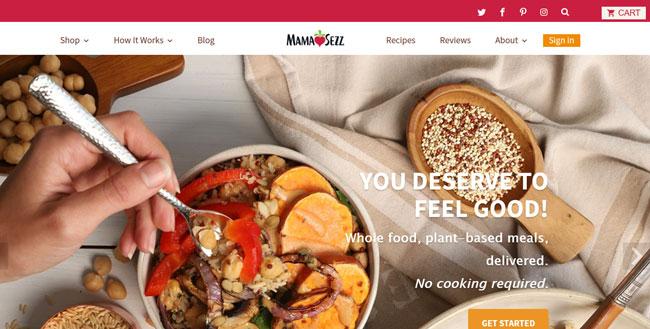 MamaSezz printscreen homepage