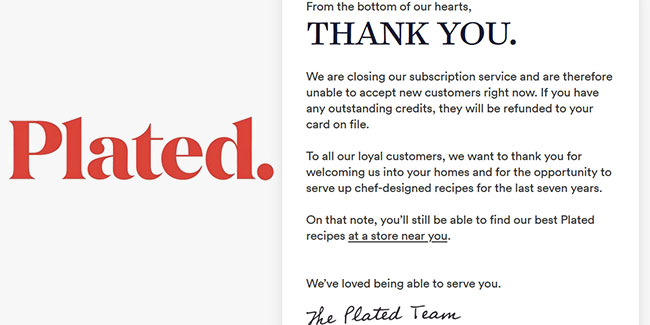 plated Shuts Down Its Subscription Service