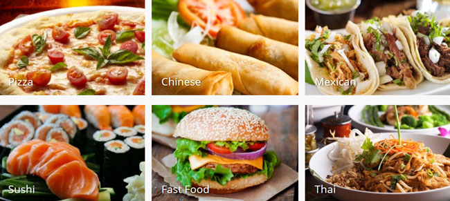 Delivery-com meal Popular Cuisines