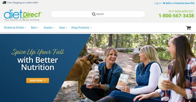 Diet-Direct printscreen homepage