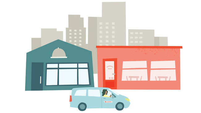 Doordash illustration for Drive service