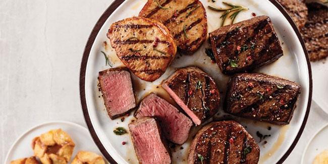 Omaha Steaks Steaks on plate