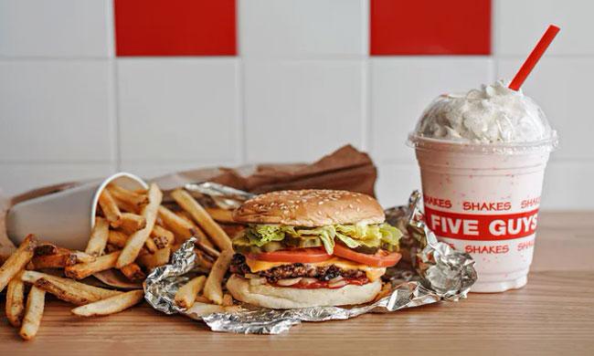 Postmates fast food meals on table