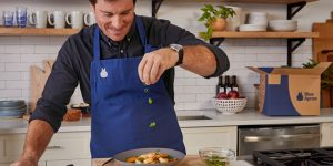 Blue Apron and Seamus Mullen in the kitchen