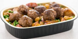 Home Chef Pot Roast Meatballs with Potatoes and Peas