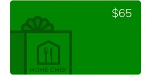Home Chef gift card image